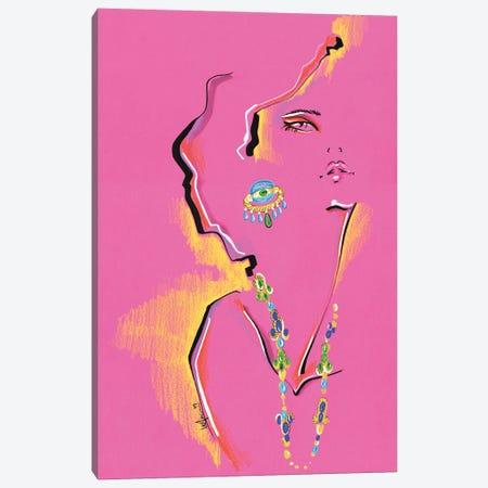 Magenta Portrait Collage Canvas Print #EAZ4} by Elly Azizian Canvas Art