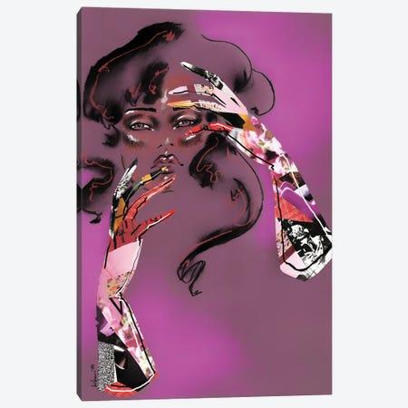 Don't Touch Your Face Canvas Print #EAZ53} by Elly Azizian Art Print