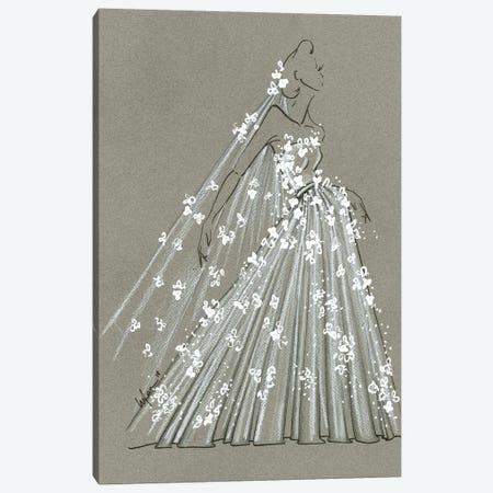 Fashion Strokes Bridal Canvas Print #EAZ8} by Elly Azizian Canvas Print
