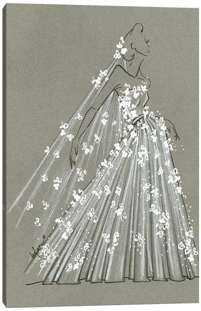 Fashion Strokes Bridal Canvas Art Print