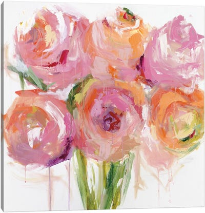 Pink Peonies Canvas Art Print