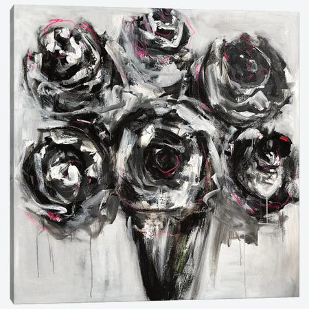 Black Roses Canvas Print #EBE3} by Emma Bell Canvas Art