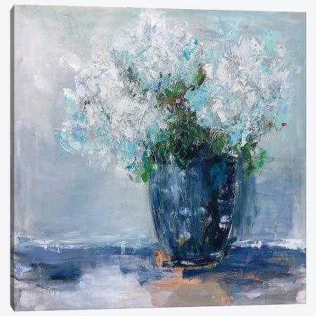 Blue Hydrangea Canvas Print #EBE6} by Emma Bell Canvas Print