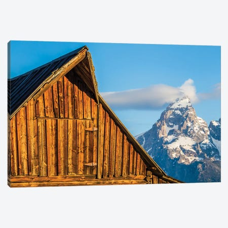 USA, Wyoming, Grand Teton National Park, Jackson, Barn roof in early morning Canvas Print #EBO3} by Elizabeth Boehm Canvas Artwork