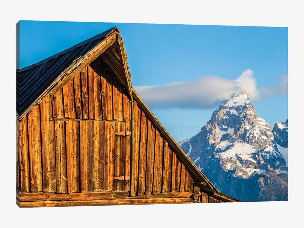 USA, Wyoming, Grand Teton National Park, Jackson, Barn roof in early morning by Elizabeth Boehm 1-piece Canvas Artwork