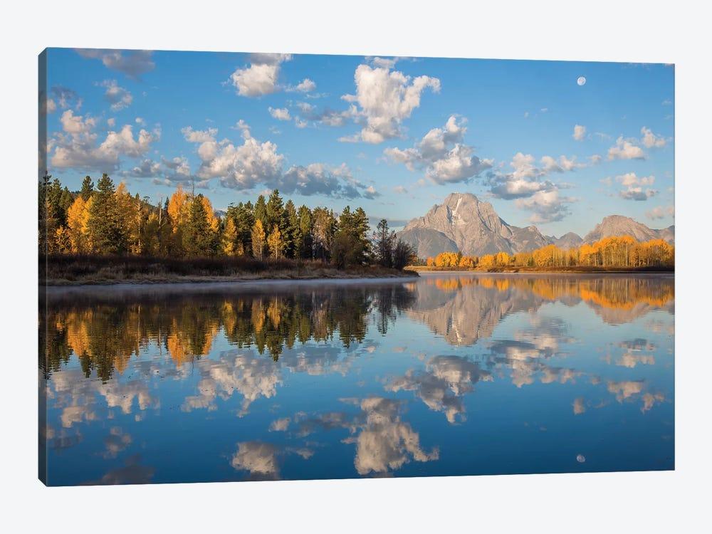USA, Wyoming, Grand Teton National Park, Mt. Moran along the Snake River in autumn I by Elizabeth Boehm 1-piece Canvas Art Print