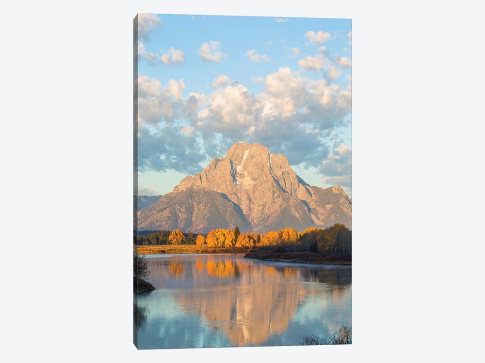 USA, Wyoming, Grand Teton National Park, Mt. Moran along the Snake River in autumn II by Elizabeth Boehm 1-piece Canvas Artwork