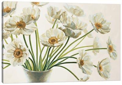 Bouquet di anemoni Canvas Art Print