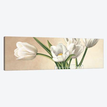 Vaso con tulipani bianchi Canvas Print #EBR6} by Eva Barberini Canvas Print