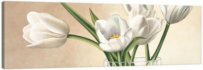 Vaso con tulipani bianchi Canvas Art Print