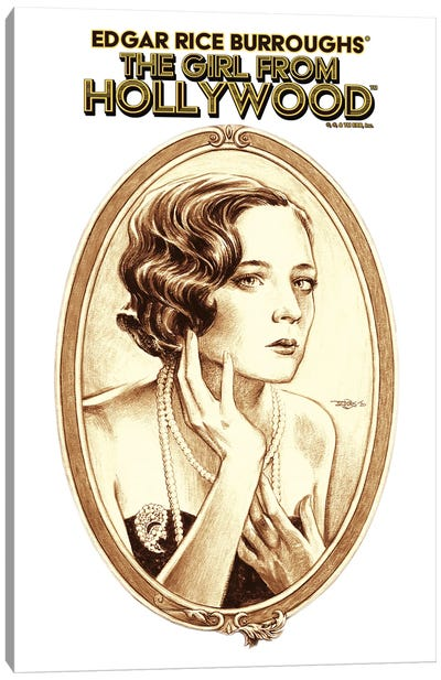 The Girl From Hollywood Canvas Art Print