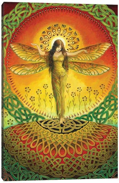 The Dragonfly Goddess Canvas Art Print