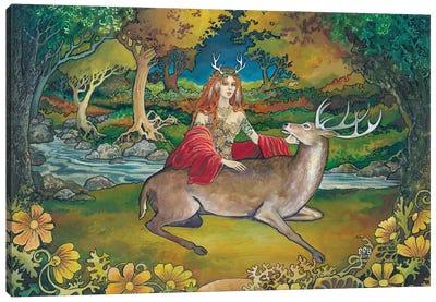 Elen Of The Ways: Goddess Of The Wild Wood Canvas Art Print
