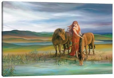 Epona: The Celtic Horse Goddess Canvas Art Print
