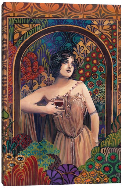 Meditrina: Goddess Of Wine Canvas Art Print
