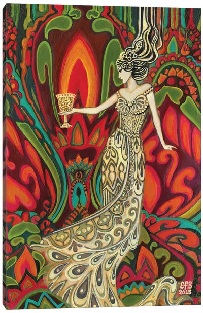The Queen Of Cups Canvas Art Print