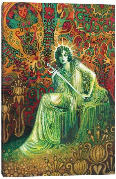 The Queen Of Swords Canvas Art Print