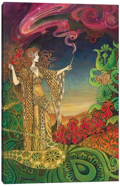 The Queen Of Wands Canvas Art Print