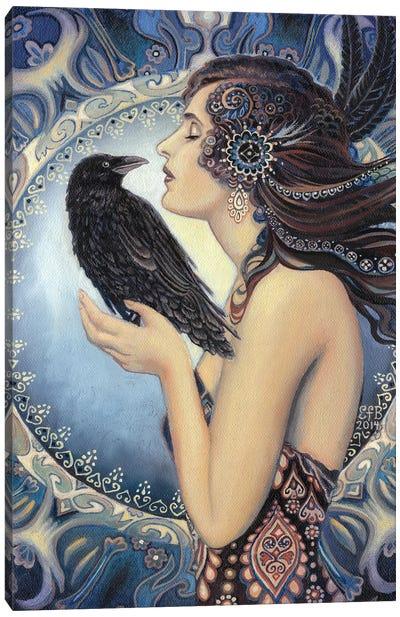 The Raven Goddess Canvas Art Print