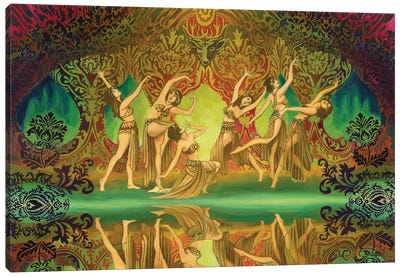 The Sidhe Of The Sacred Grove Canvas Art Print