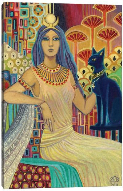 Bast: The Cat Goddess Canvas Art Print