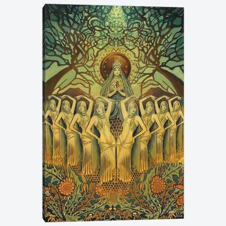 The Bee Goddess Canvas Print #EBV7} by Emily Balivet Art Print