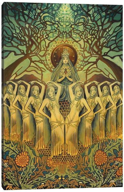 The Bee Goddess Canvas Art Print