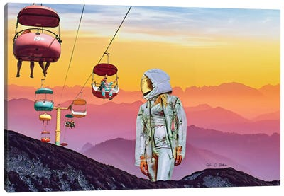 The Visitor Canvas Art Print