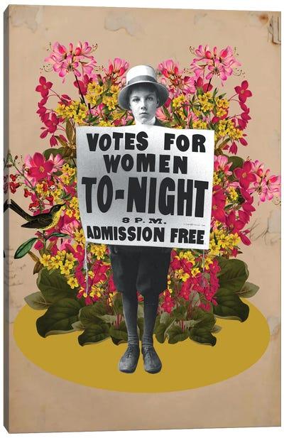 Votes For Woman Canvas Art Print