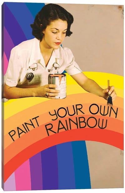 Paint Your Own Rainbow Canvas Art Print