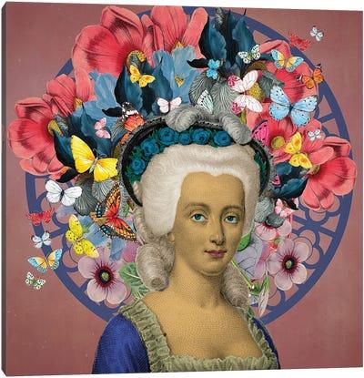 Portrait Of Viscountess Dumoulin Canvas Art Print