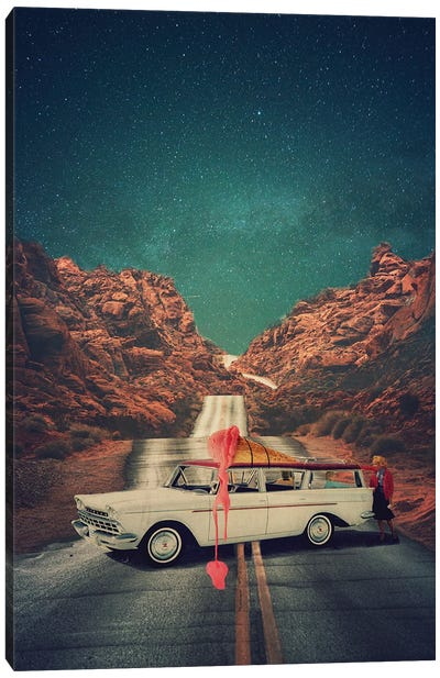 Melted Road Canvas Art Print