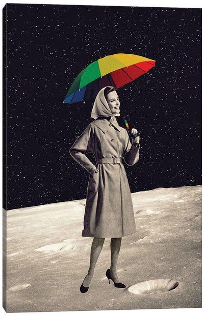 Walk To The Moon Canvas Art Print
