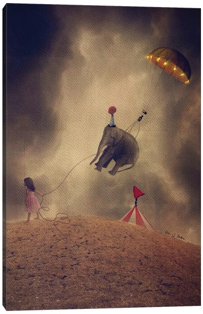 Taking The Circus With Me Canvas Art Print