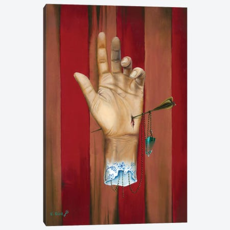 "La Mano Canvas Print #ECD12} by Encarni Díaz ""Ginger"" Canvas Wall Art"