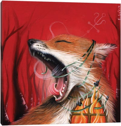 All Theese Burning Feelings Canvas Art Print