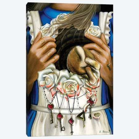 """Have I Gone Mad.. Canvas Print #ECD8} by Encarni Díaz """"Ginger"""" Canvas Art"""