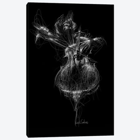 Double Bass Canvas Print #ECE14} by Erick Centeno Canvas Wall Art