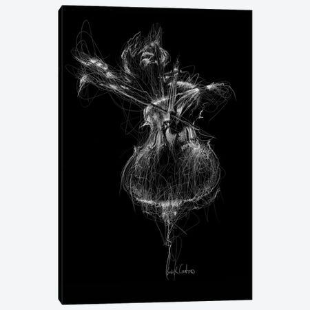 Double Bass Canvas Print #ECE14} by Erick Centeno Canvas Wall Art