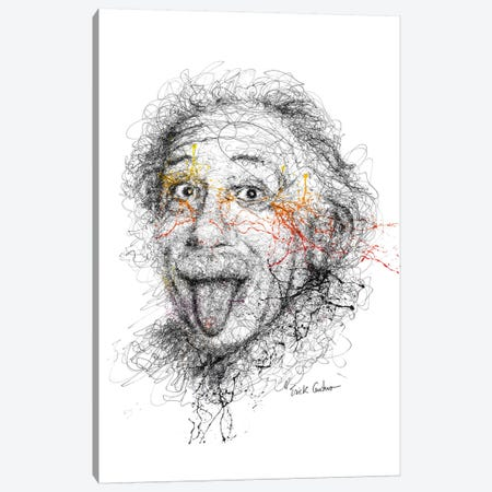 Einstein Canvas Print #ECE17} by Erick Centeno Canvas Artwork