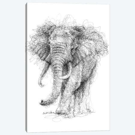 Elephant Canvas Print #ECE18} by Erick Centeno Art Print