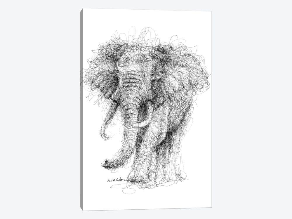 Elephant by Erick Centeno 1-piece Canvas Art Print