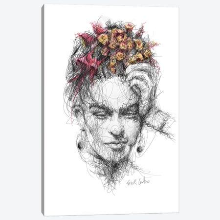 Frida Canvas Print #ECE25} by Erick Centeno Canvas Art Print