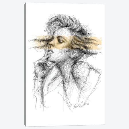 Gold Thoughts Canvas Print #ECE28} by Erick Centeno Canvas Artwork