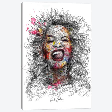 Grimaces Canvas Print #ECE29} by Erick Centeno Canvas Art
