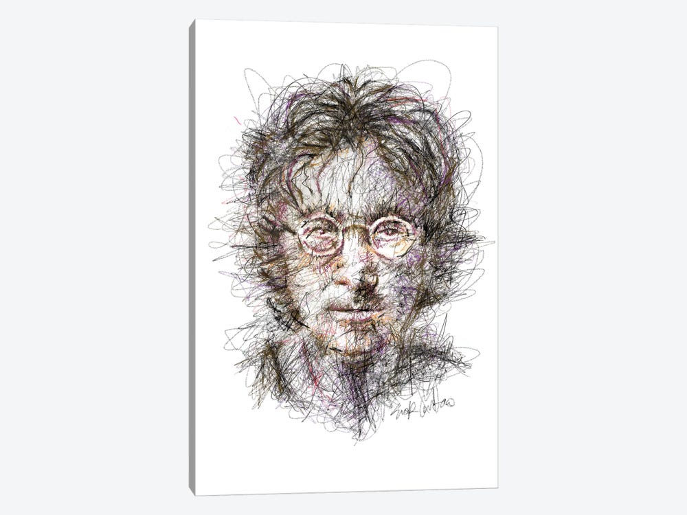 Lennon  by Erick Centeno 1-piece Canvas Print