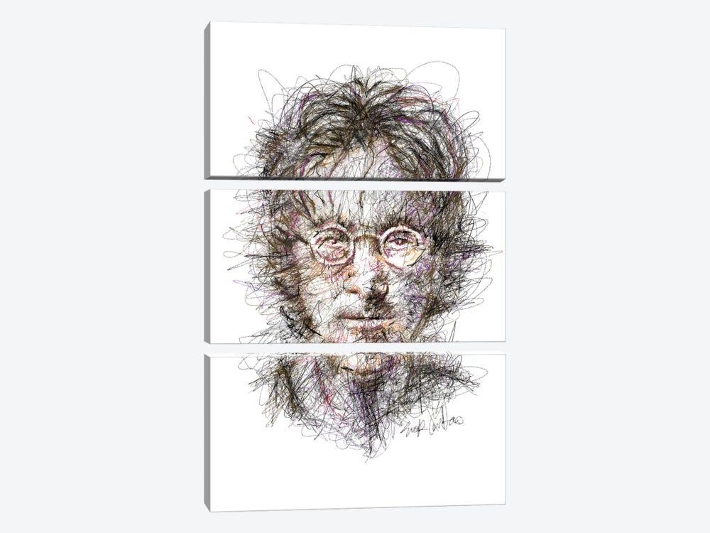 Lennon  by Erick Centeno 3-piece Canvas Art Print