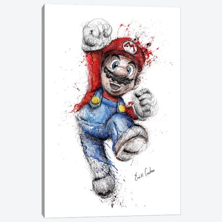 Mario Canvas Print #ECE37} by Erick Centeno Canvas Wall Art
