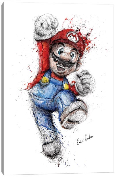 Mario Canvas Art Print