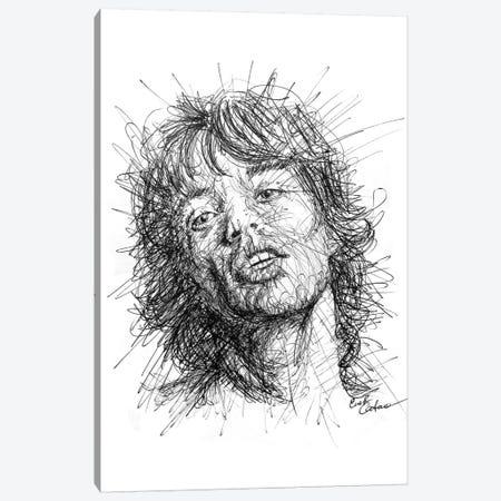 Mick Jagger Canvas Print #ECE38} by Erick Centeno Canvas Print